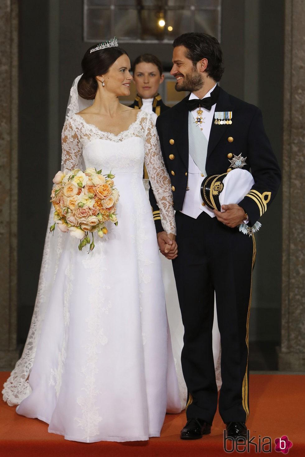 Carlos Felipe de Suecia y Sofia Hellqvist, muy enamorados tras su boda