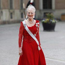 Margarita de Dinamarca en la boda de Carlos Felipe de Suecia y Sofia Hellqvist