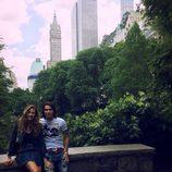 Jessica Bueno y Jota Peleteiro en Central Park durante su luna de miel