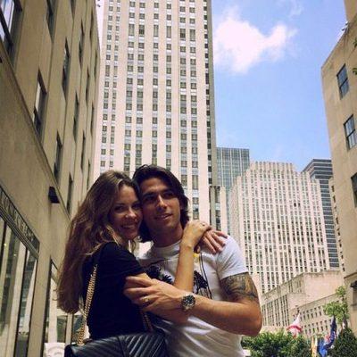 Jessica Bueno y Jota Peleteiro en Rockefeller Center durante su luna de miel