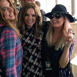 Melanie C, Geri Halliwell y Emma Bunton se reencuentran en el 'Isle Of Wight Festival'