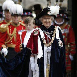 La Reina Isabel en la ceremonia de la Orden de la Jarretera 2015