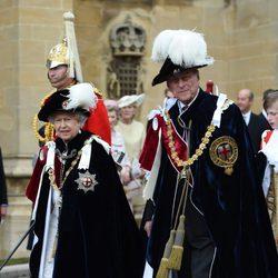 La Reina Isabel y el Duque de Edimburgo en la ceremonia de la Orden de la Jarretera 2015