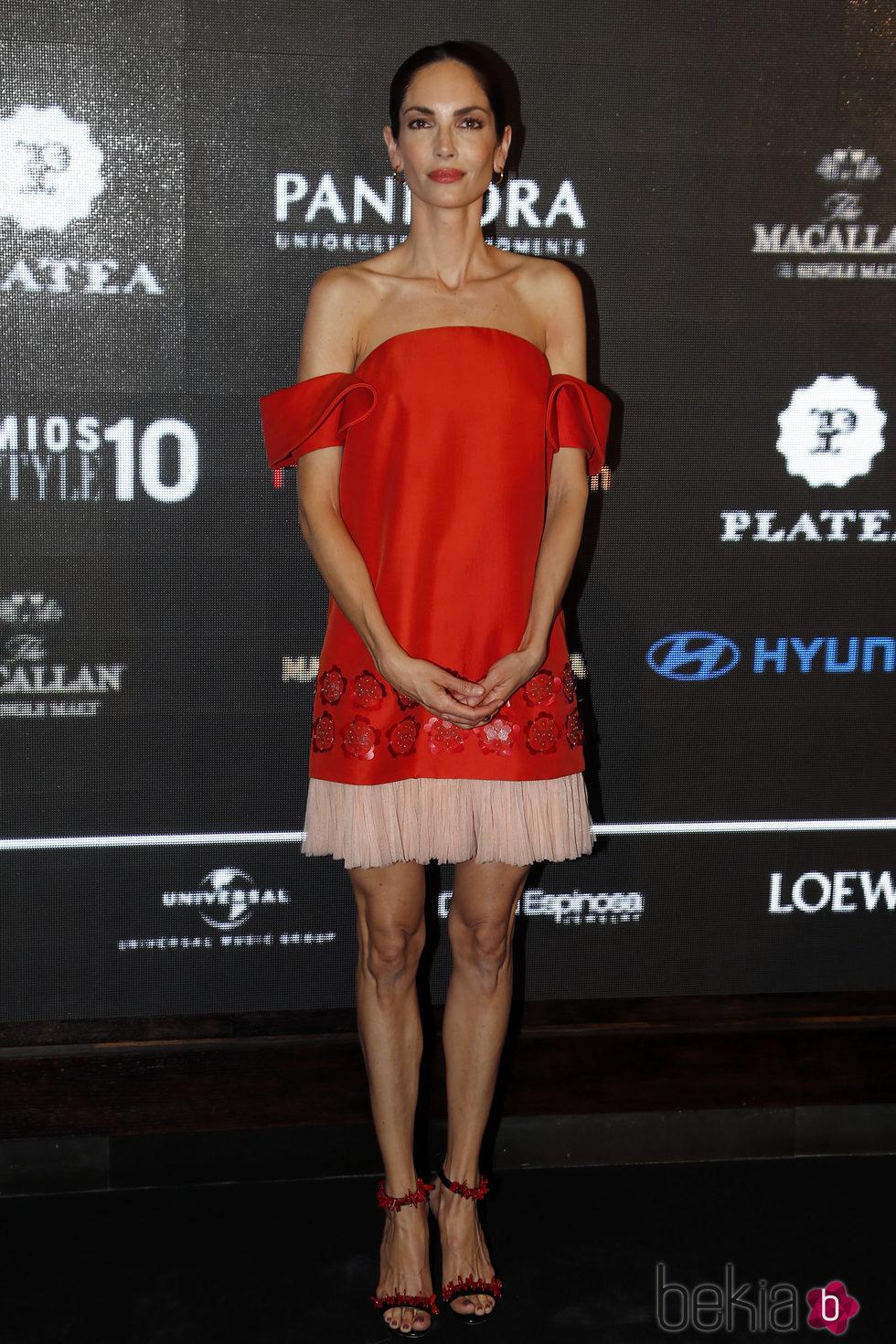 Eugenia Silva en la entrega de los Premios Lifestyle