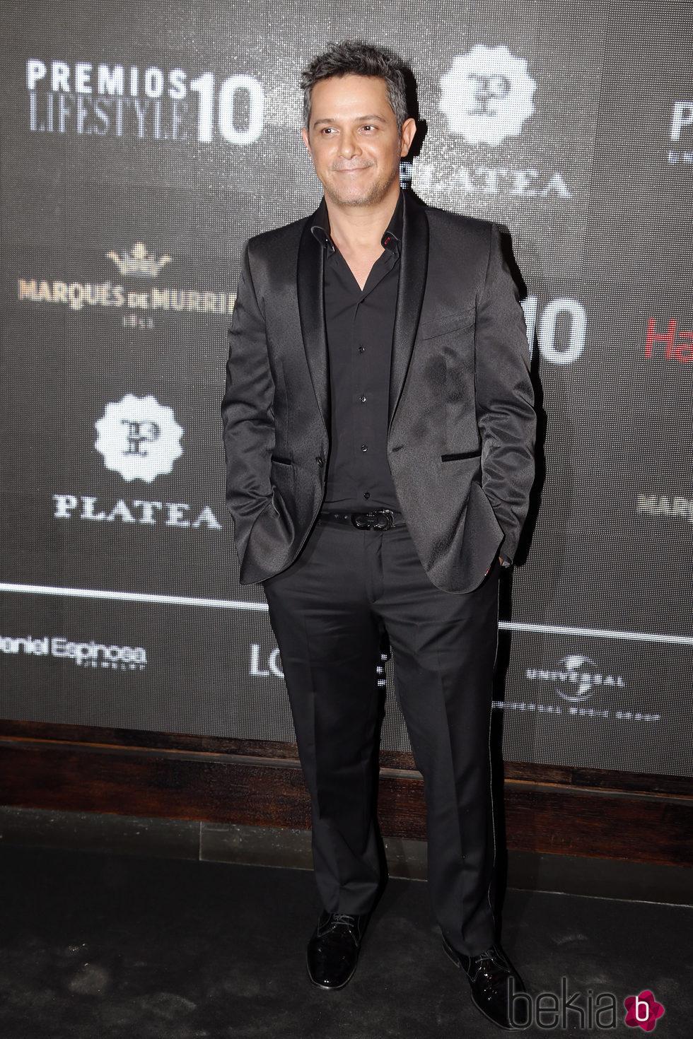 Alejandro Sanz en la entrega de los Premios Lifestyle
