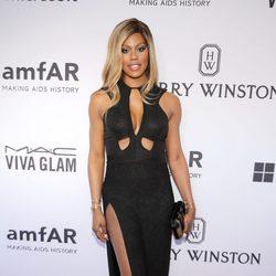 Laverne Cox en la gala amfAR Inspiration de Nueva York 2015