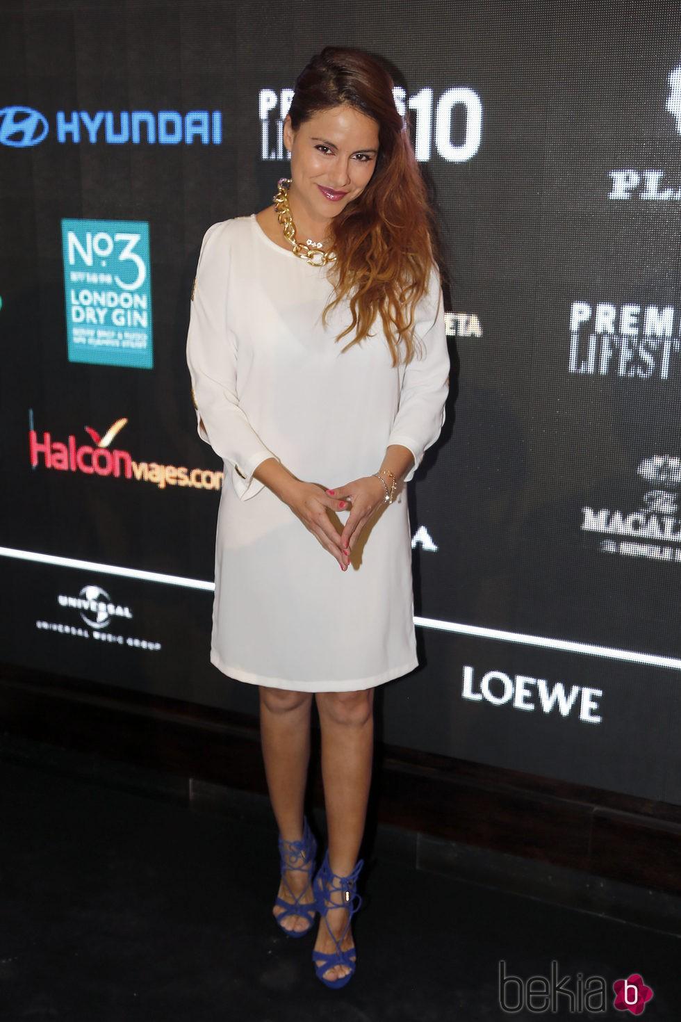 Mónica Hoyos en la entrega de los Premios Lifestyle