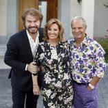 María Teresa Campos con Bigote Arrocet y Luis Mariñas en la fiesta de su 74 cumpleaños