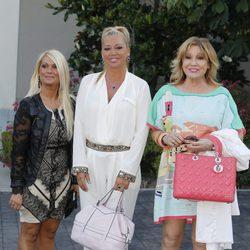Mariví, Belén Esteban y Mila Ximénez en la fiesta del 74 cumpleaños de María Teresa Campos
