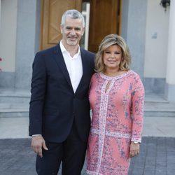 Terelu Campos y José Valenciano en la fiesta del 74 cumpleaños de María Teresa Campos