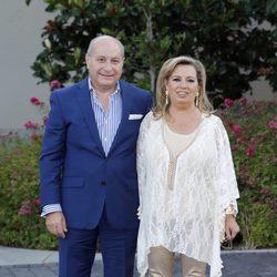 Carmen Borrego y José Carlos Bernal en la fiesta del 74 cumpleaños de María Teresa Campos
