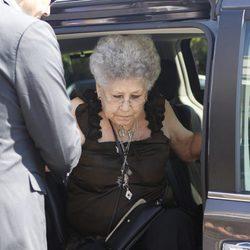 Pilar Bardem en el tanatorio de Eduardo Cruz