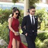 Xabi Alonso y Nagore Aranburu en la boda de José Callejón y Marta Ponsati