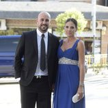 Pepe Reina y Yolanda Ruiz en la boda de José Callejón y Marta Ponsati