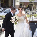 Marta Ponsati radiante el día de su boda con José Callejón