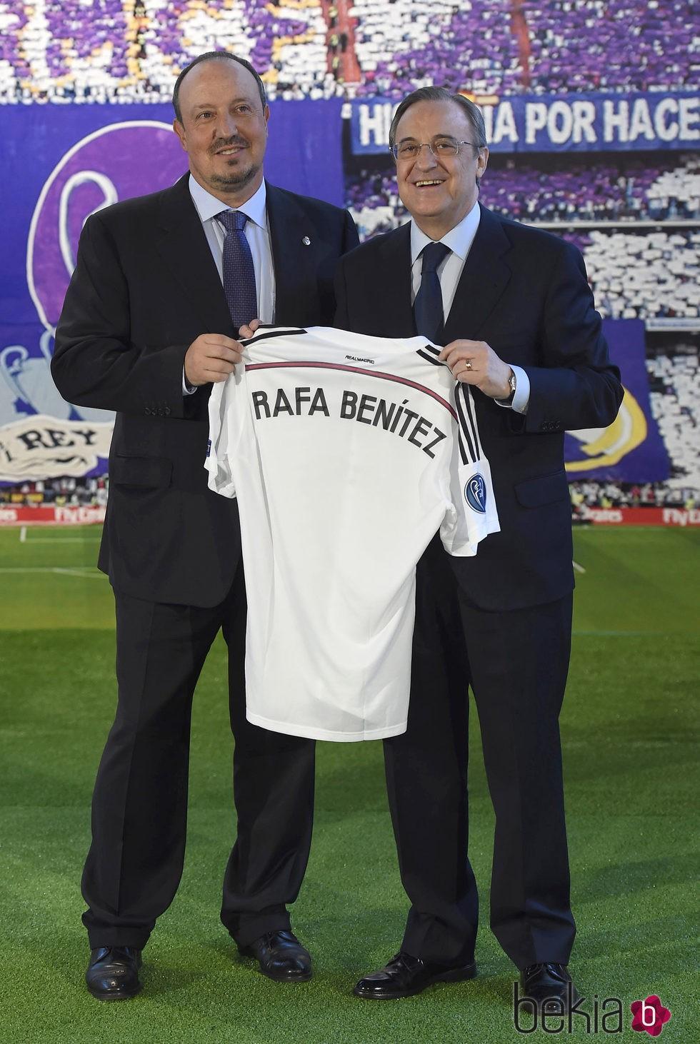 ¿Cuánto mide Florentino Pérez? - Altura - Real height 76251_rafa-benitez-florentino-perez-presentacion-entrenador-real-madrid