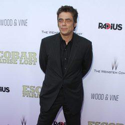 Benicio del Toro en la premiere de 'Escobar: Paraíso Perdido' en Los Angeles