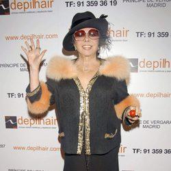 Marujita Díaz en un acto promocional en Madrid