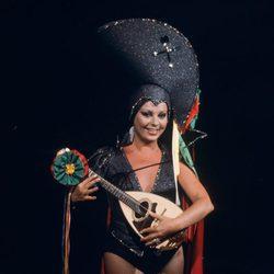 Marujita Díaz durante una actuación en un programa de televisión