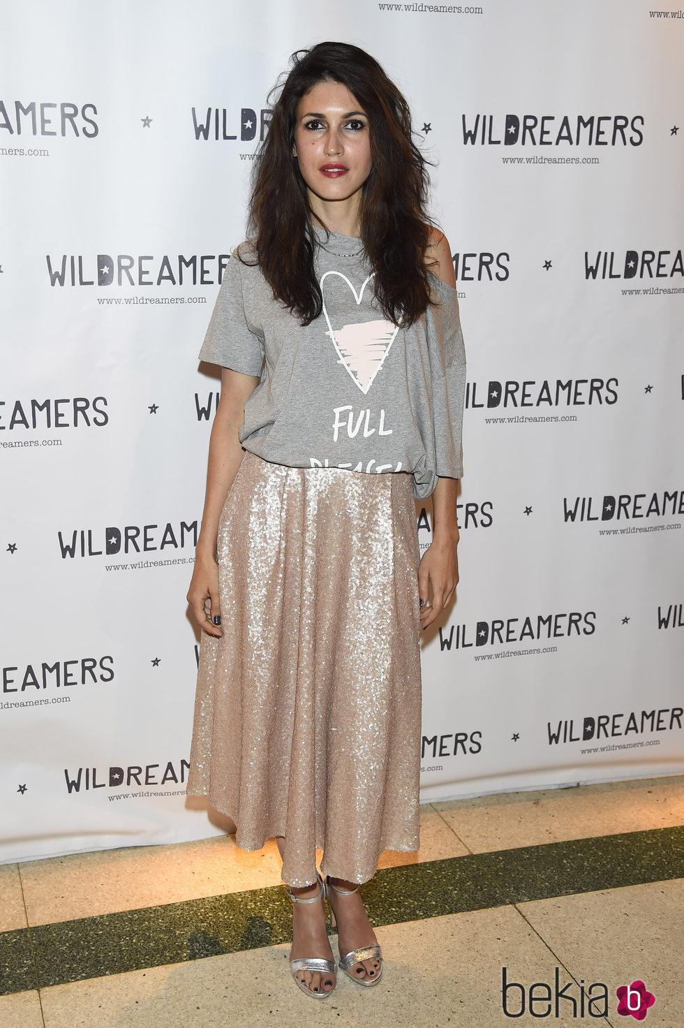 Nerea Barros durante una fiesta de la firma Wildreamers en Madrid