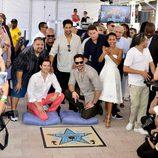 Los actores de 'Magic Mike XXL' descubren la estrella de la película en el Paseo de la Fama de Miami