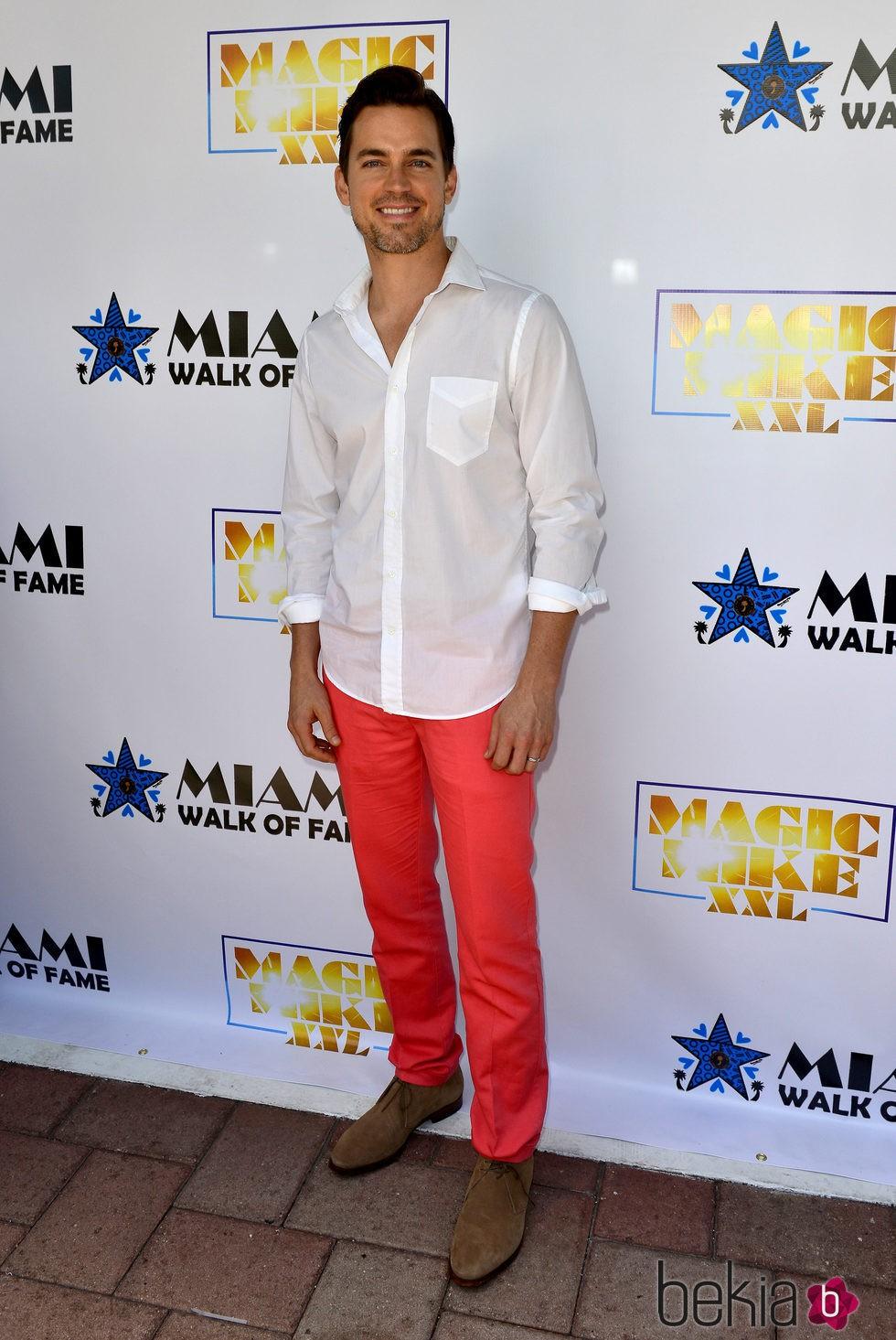 Matt Bomer en el Paseo de la Fama de Miami