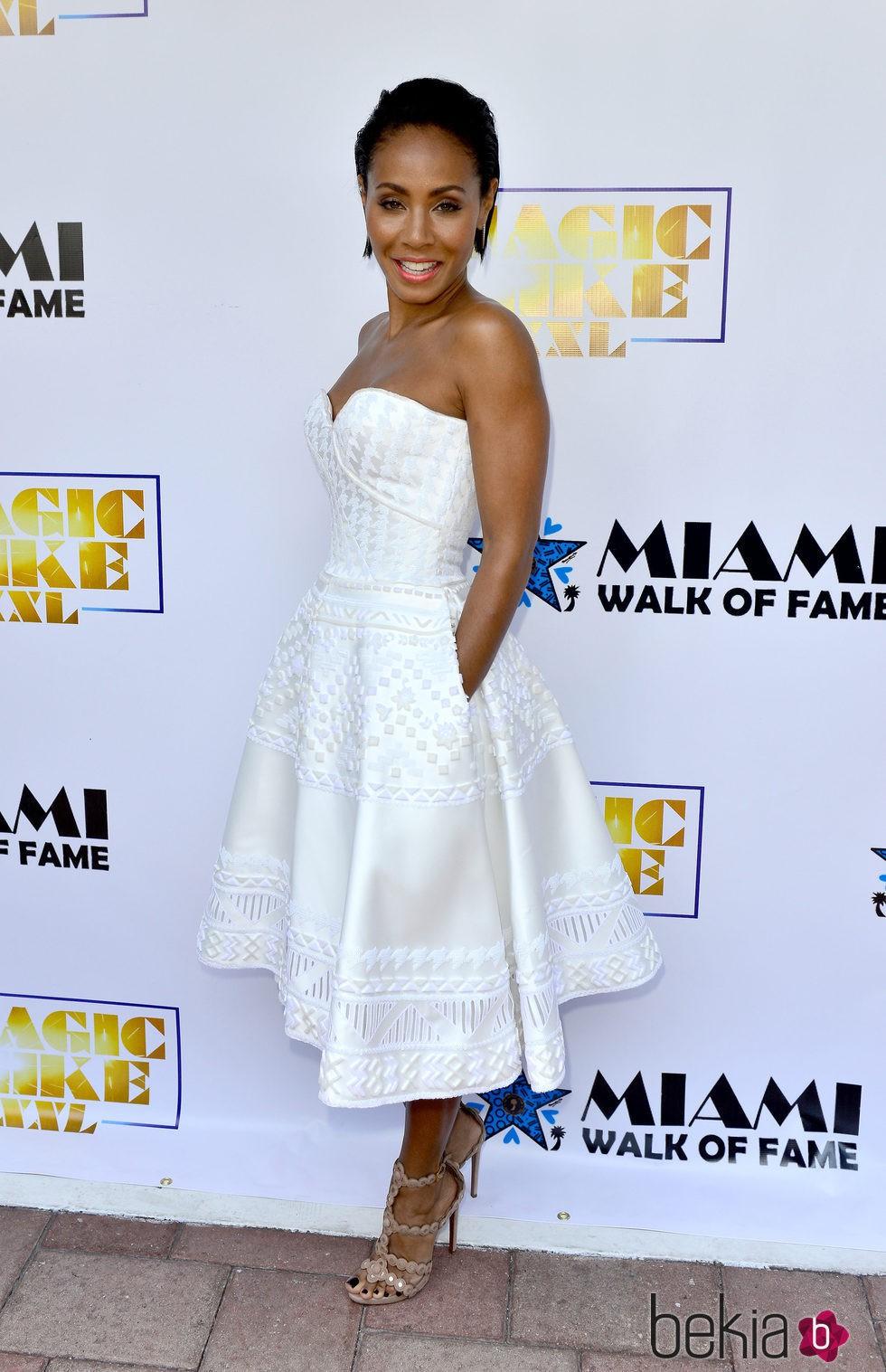 Jada Pinkett Smith en el Paseo de la Fama de Miami