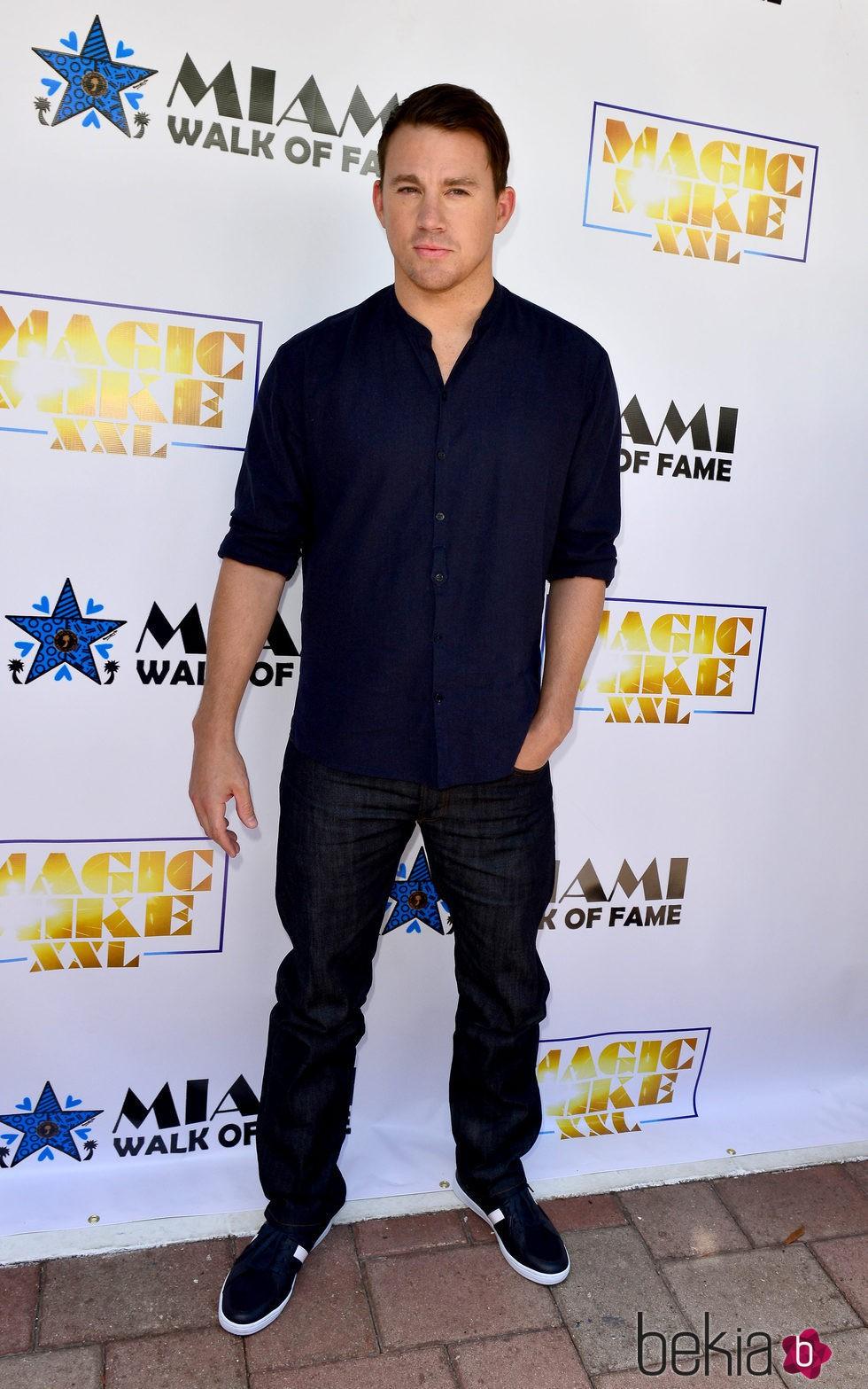 Channing Tatum en el Paseo de la Fama de Miami