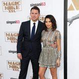Channing Tatum y Jenna Dewan en la premiere de 'Magic Mike XXL' en Los Angeles