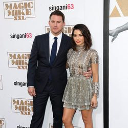 Channing Tatum y Jenna Dewan en la premiere de 'Magic Mike XXL' en Los Angeles