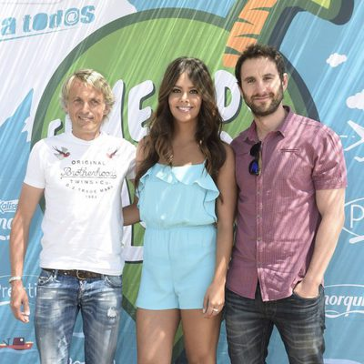 Jesús Calleja, Cristina Pedroche y Dani Rovira en un acto promocional
