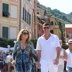 Mariah Carey y James Packer visitando Portofino muy sonrientes y felices