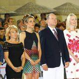 Carlota Casiraghi y Alberto de Mónaco en la clausura del Concurso de Saltos de Monte-Carlo 2015