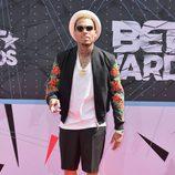 Chris Brown en la alfombra roja de los Bet Awards 2015