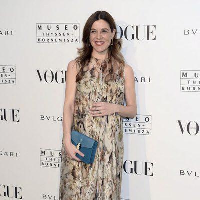 Raquel Sánchez Silva presume de embarazo en la inauguración de la exposición del Thyssen