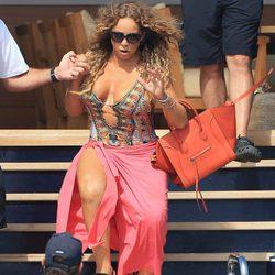 Mariah Carey tiene un tropiezo en alta mar