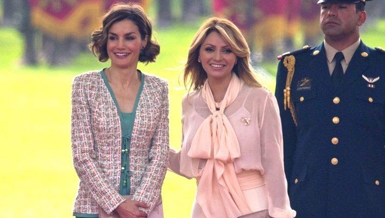 La Reina Letizia con Angélica Rivera en su Viaje de Estado a México