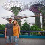 Edurne y David De Gea en Singapur