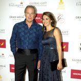 Bertín Osborne con su mujer Fabiola Martínez en los Global Gift 2015