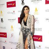 Caterina López en la alfombra roja de los Global Gift 2015