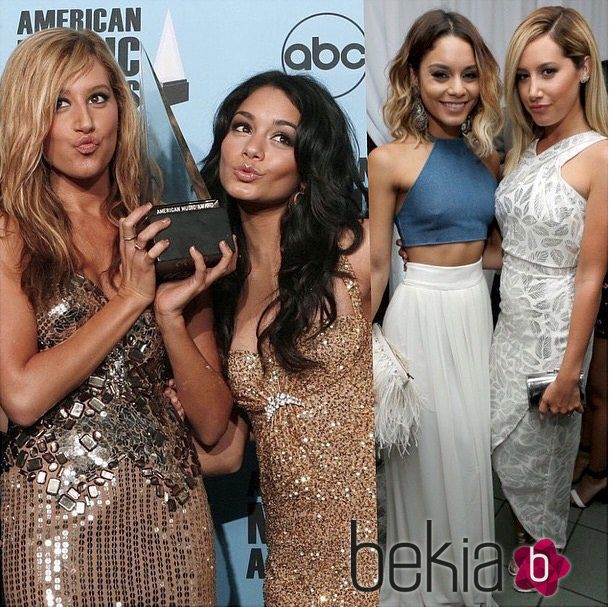 Collage de felicitación de Vanessa Hudgens a Ashley Tisdale por su 30 cumpleaños
