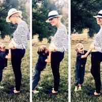 Karolina Kurkova confirma que está embarazada con una bonita foto junto a su hijo