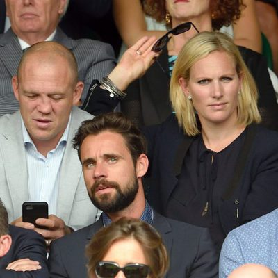 Zara Phillips y Mike Tindall en Wimbledon 2015