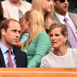El Príncipe Guillermo y la Condesa de Wessex en Wimbledon 2015
