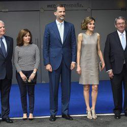 Paolo Vasile, Soraya Sáez de Santamaría, Rey Felipe Vi y la Reina Letizia
