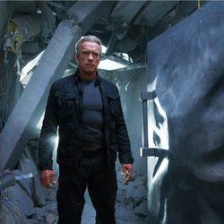 Arnold Schawarzenegger en el rodaje de 'Terminator Génesis'