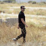 Rodolfo Sancho grabando la serie 'Mar de plástico' en Almería