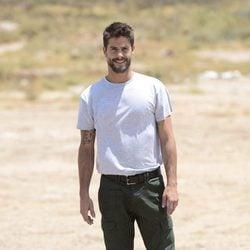 Luis Fernández presentando la serie 'Mar de plástico' en Almería