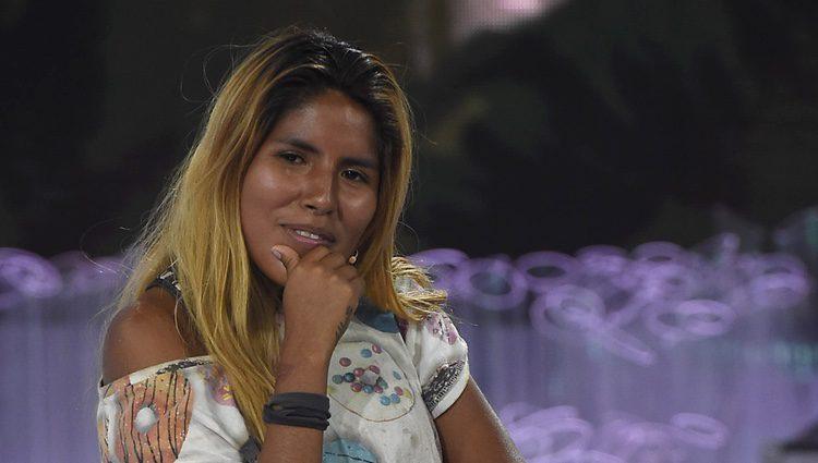 Chabelita Pantoja en el plató de 'Supervivientes 2015' tras ser expulsada