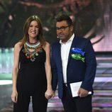 Raquel Sánchez Silva y Jorge Javier Vázquez en la semifinal de 'Supervivientes 2015'